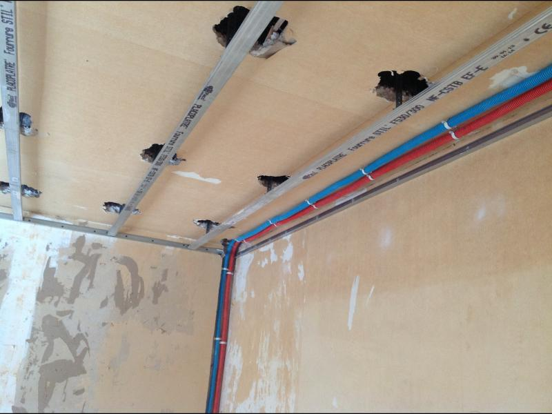 Chantier villiers st fr d rique deco sev les bons for Habillage faux plafond